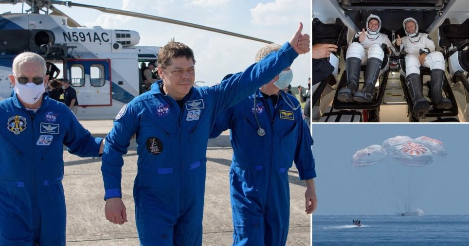 "SpaceX""龙""飞船顺利从国际空间站返回地球"
