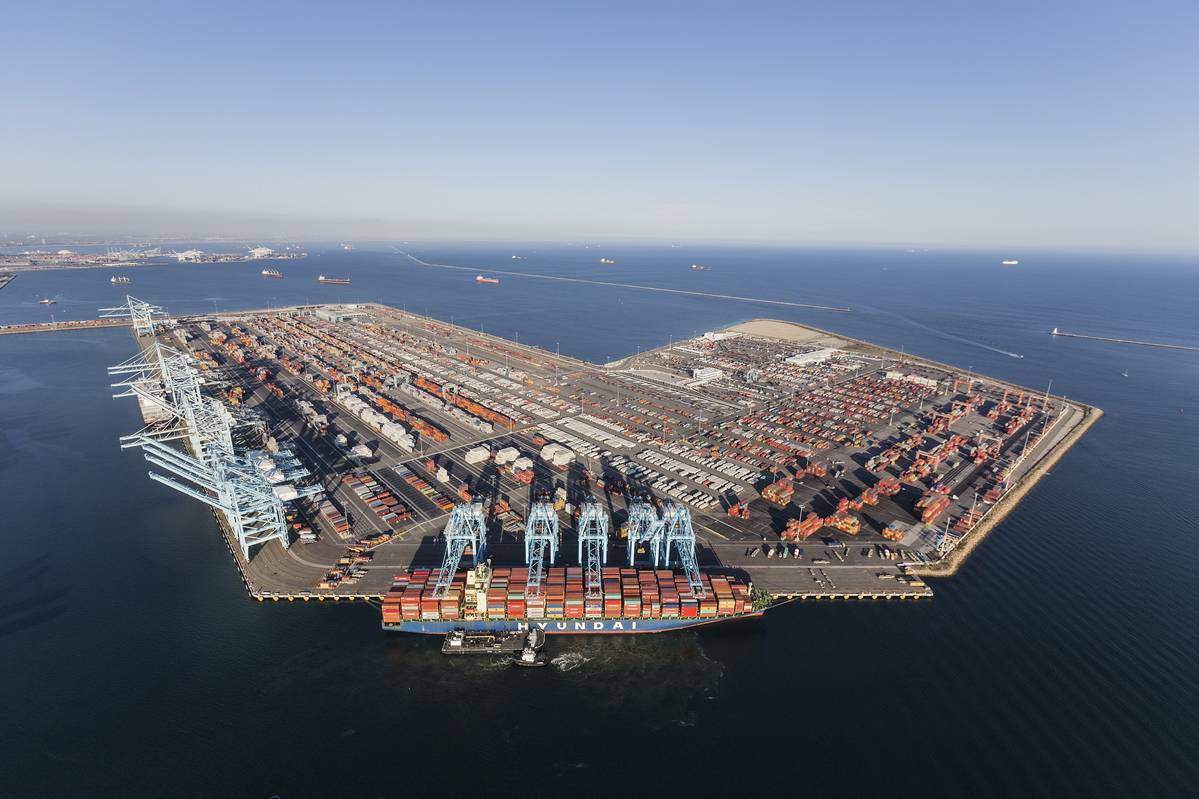 洛杉矶港7月份出口量比去年同期下降21.7%