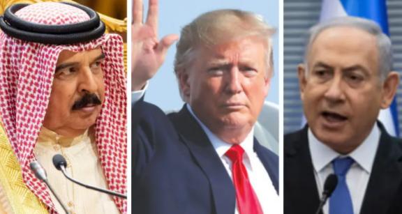"""特朗普今天宣布以色列与巴林达成""""和平协议"""""""