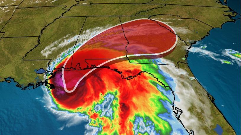飓风莎莉今天上午继续靠近美国墨西哥湾沿岸地区