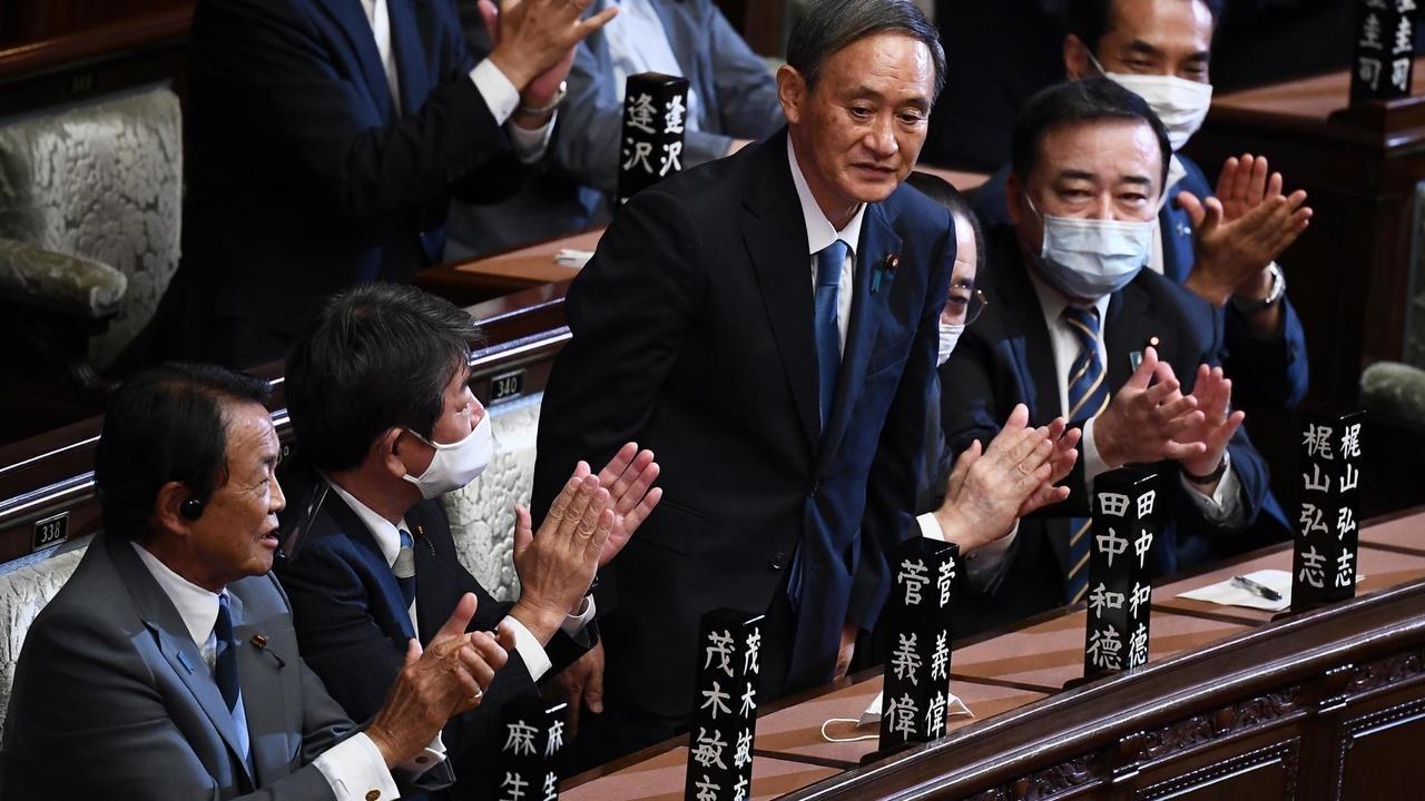 """日本""""首相指名选举""""中菅义伟顺利当选日本第99任首相"""