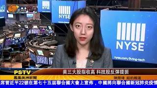美三大股指收高 科技股反彈提振