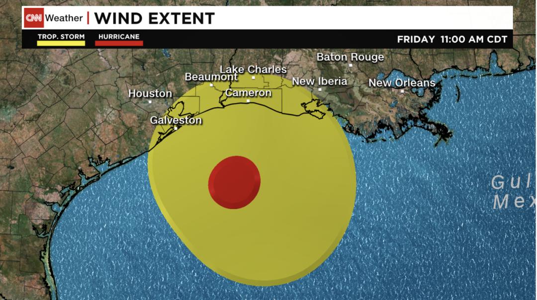 飓风Delta向美国墨西哥湾沿岸逼近,将于今晚登入路易斯安那州