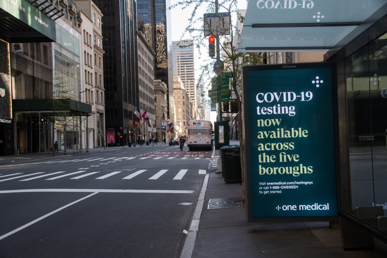 纽约将用三色来划分街区的新冠感染程度
