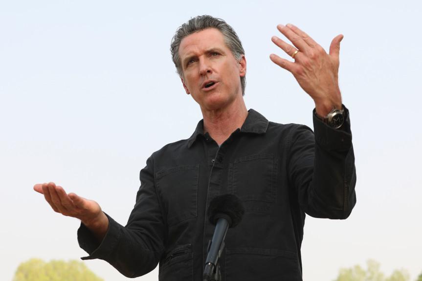 民调显示:加州州长纽森支持度上升将近六成