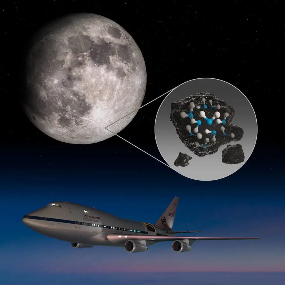 NASA在月球表面发现水