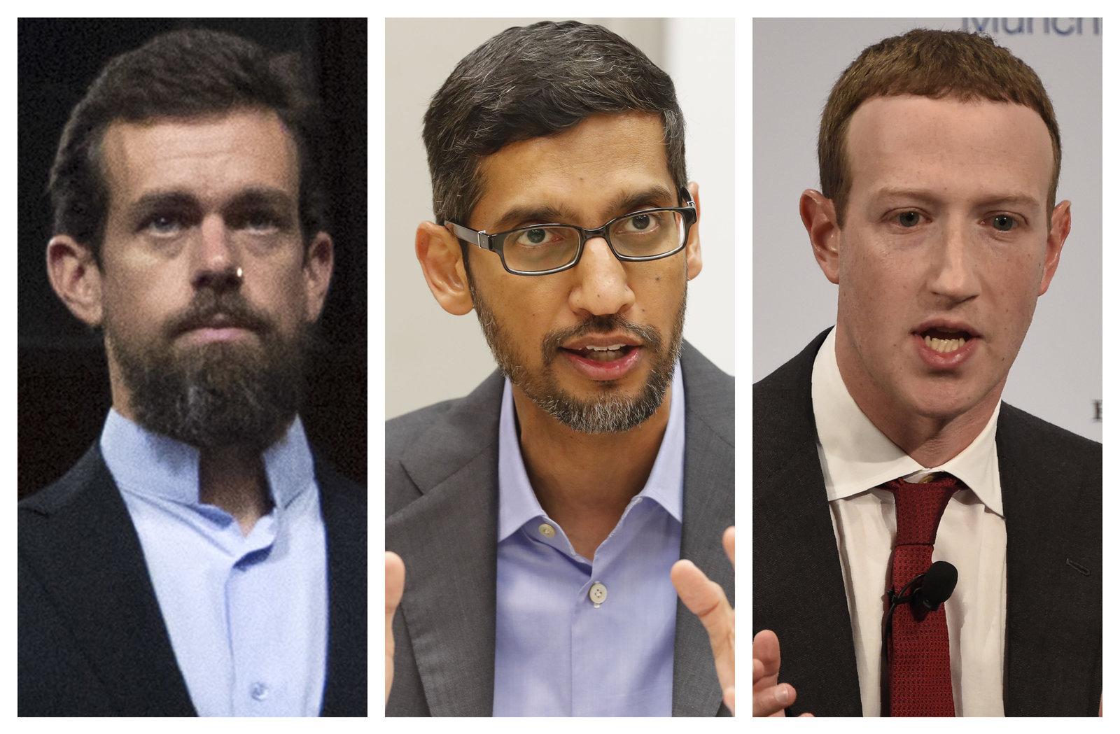 Facebook、Google、Twitter三大社交媒体CEO就内容审查出席听证会