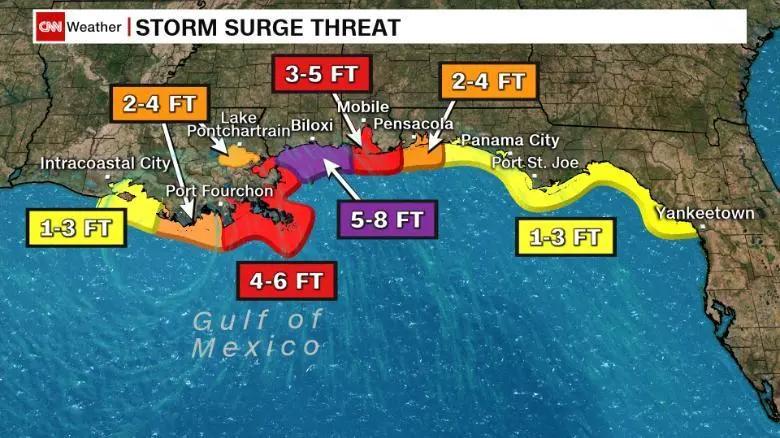 飓风Zeta登陆墨西哥湾沿岸;民众需做好准备