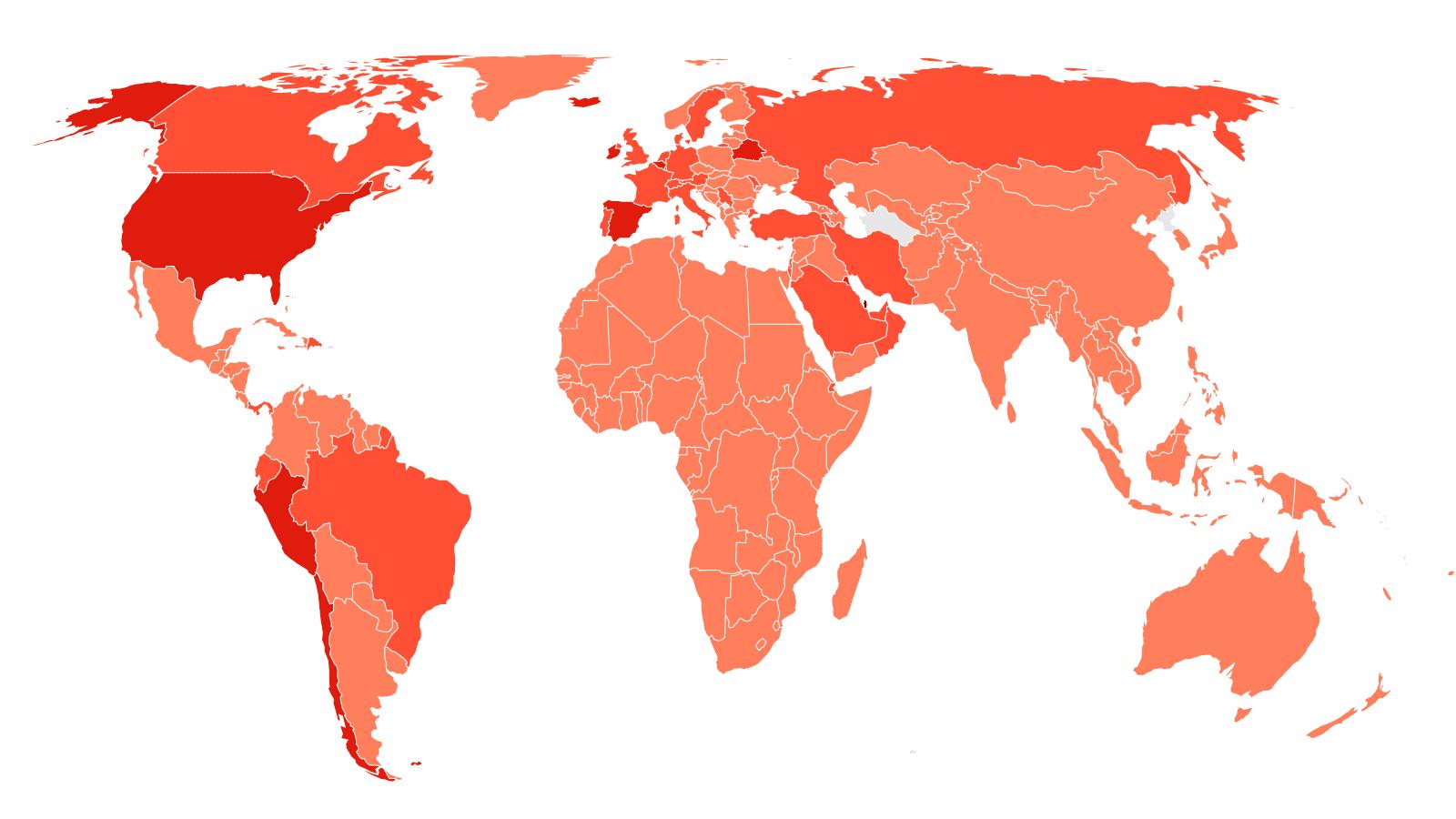 世卫组织:全球上周通报的新冠新增超过200万人