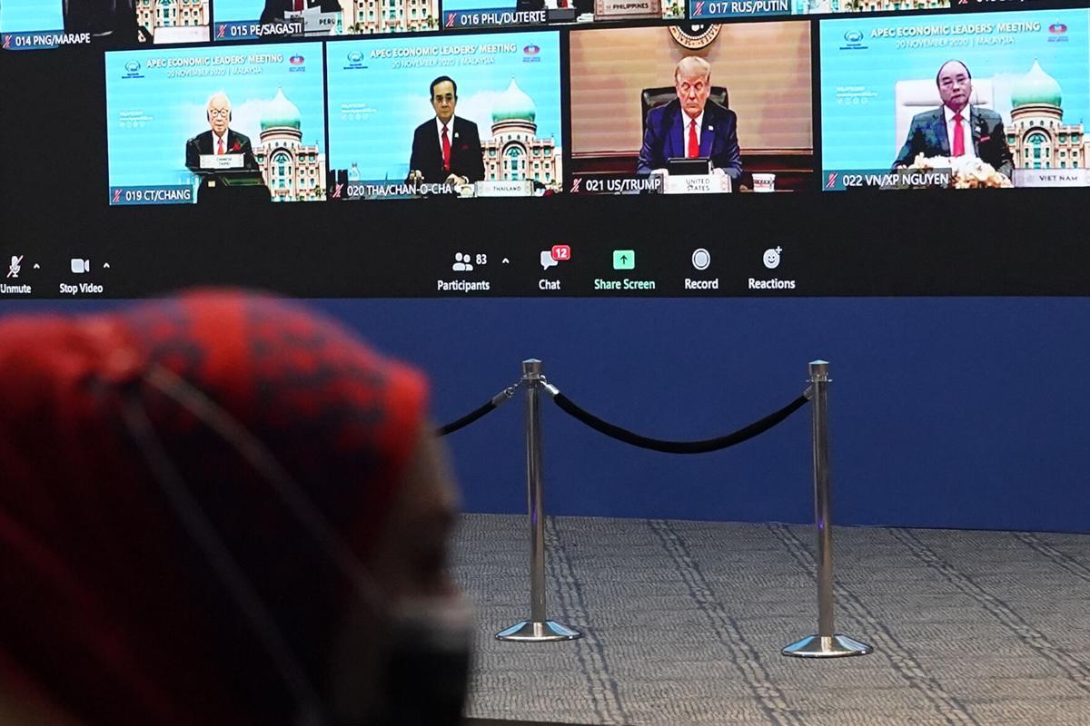 """特朗普参加亚太经济合作""""APEC""""视讯会议"""