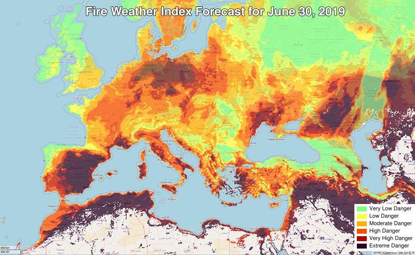 欧洲出现历来秋季最高气温