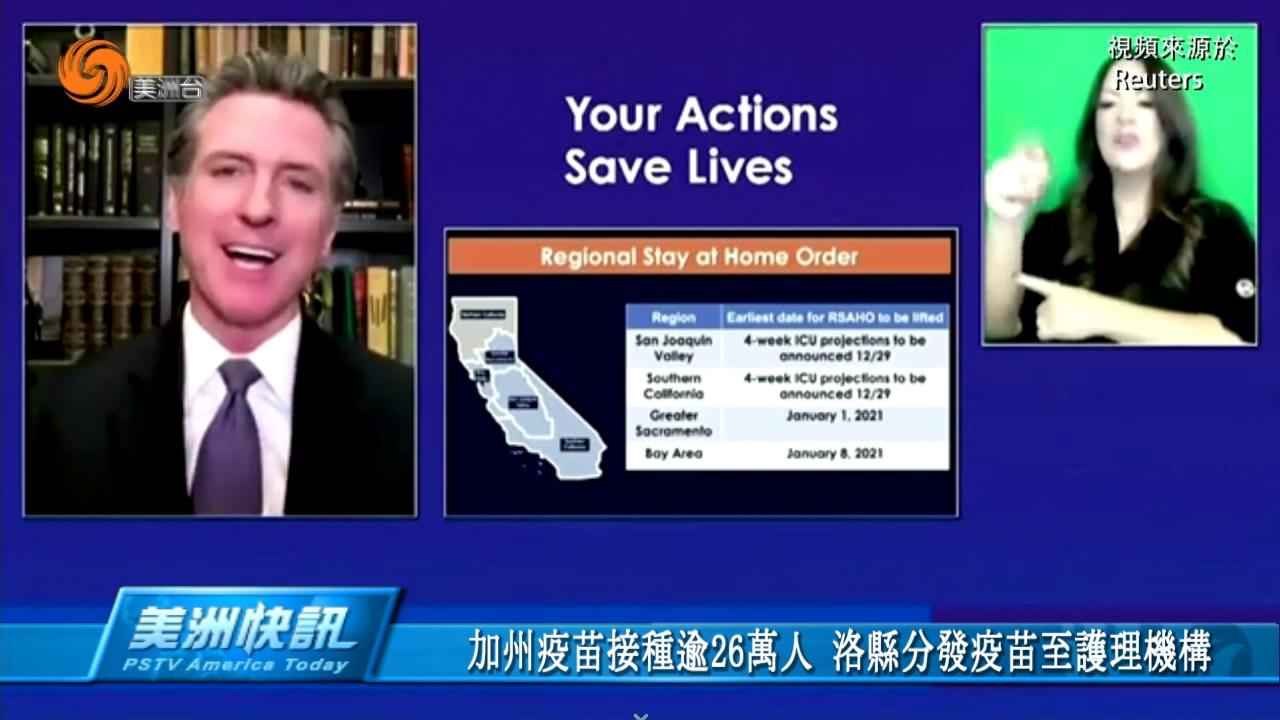 加州疫苗接種逾26萬人 洛縣分發疫苗至護理機構