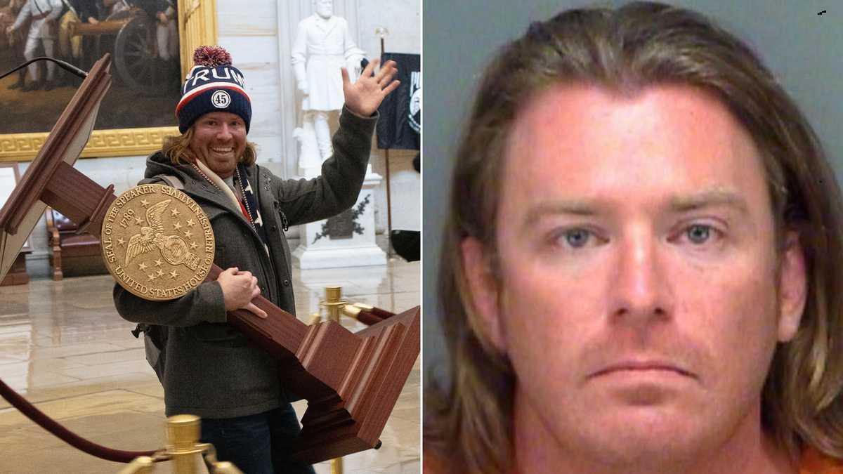 佛州男子在国会暴动中抗佩罗西讲台拍照被捕