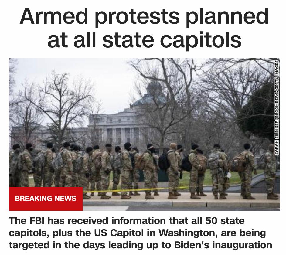 FBI警告:全美50州或面临武装抗议