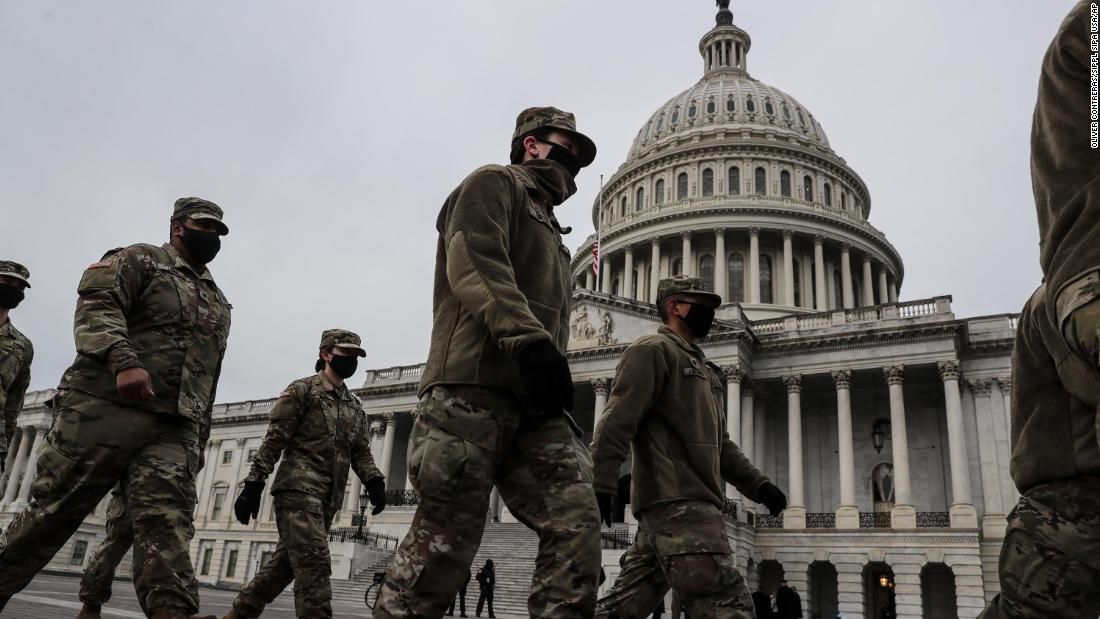 美国防部计划在华盛顿部署1.5万名国民警卫军,鲍泽呼吁民众虚拟观看拜登就职典礼
