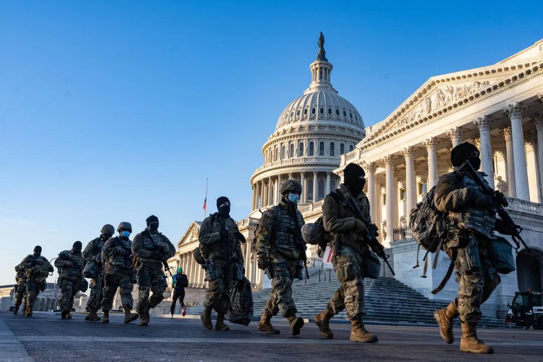 华盛顿特区的国民警卫队增至20,000人