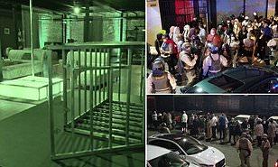 洛杉矶县警察上周驱散了两场地下派对,逮捕182名成年人