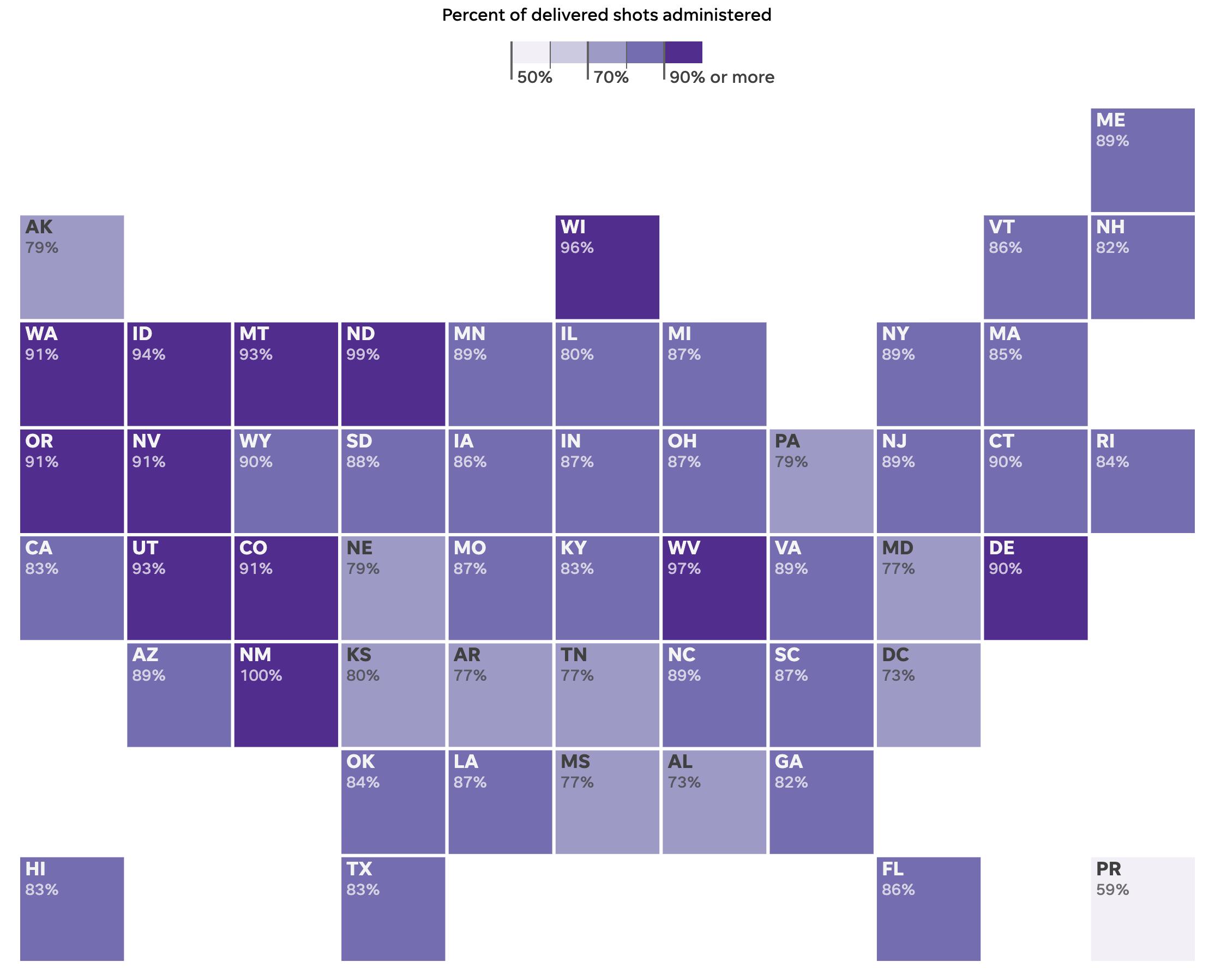 跟踪美国疫苗分布与接种;附:老年人接种疫苗须知