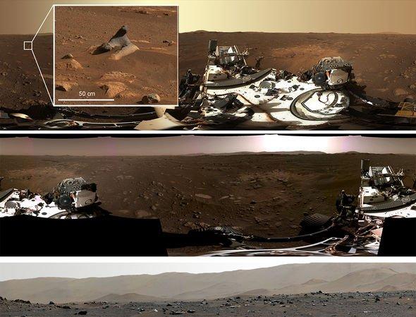 """""""毅力号""""火星探测车拍摄首张360°高清全景图"""