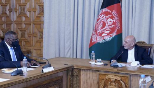 美国国防部长周末会见阿富汗总统