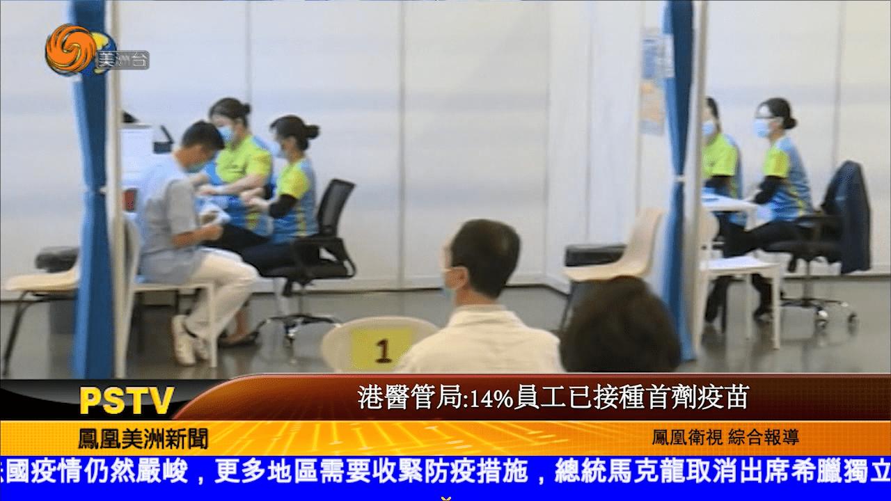 港醫管局:14%員工已接種首劑疫苗
