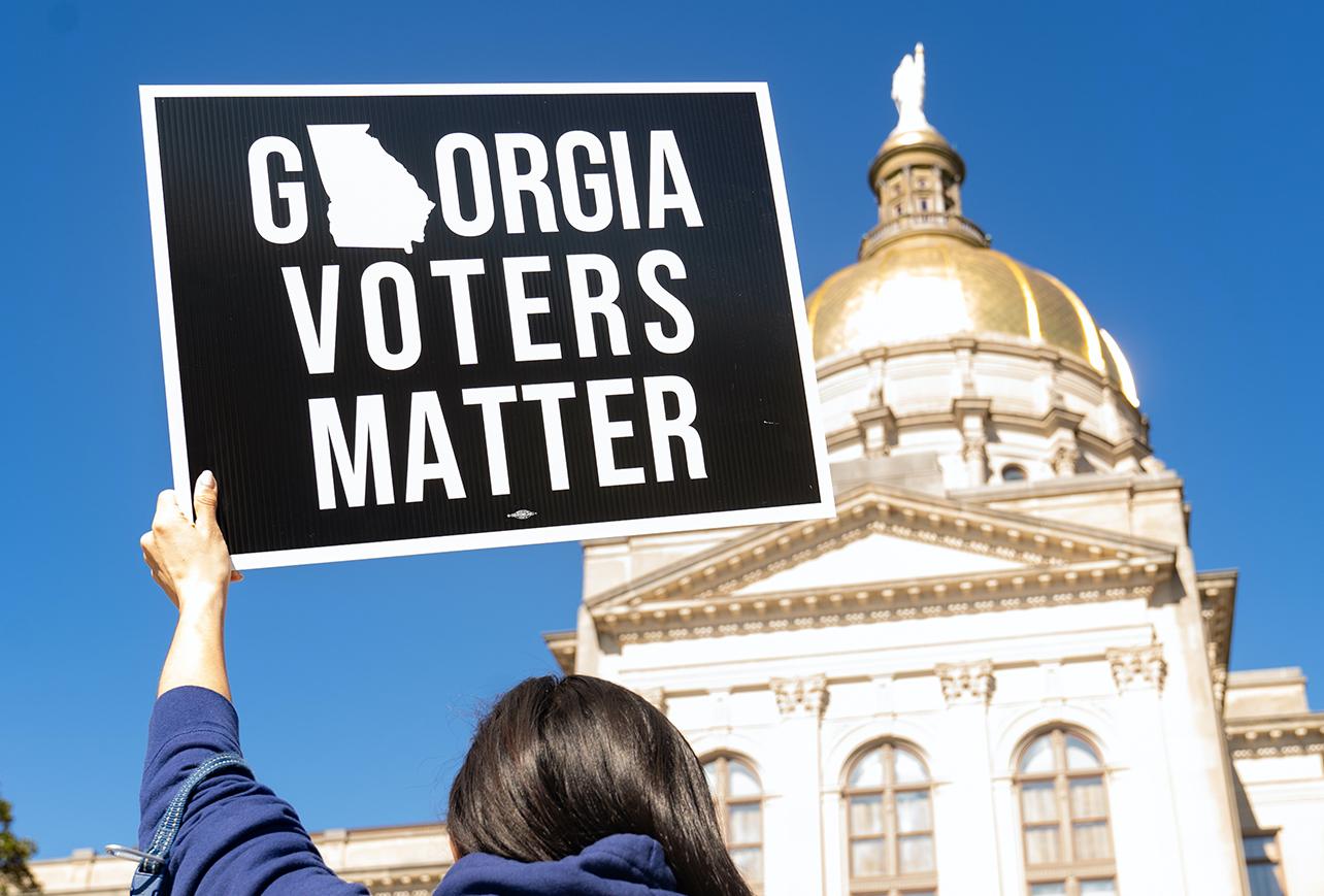 佐治亚州新选举法备受争议 两党意见分歧