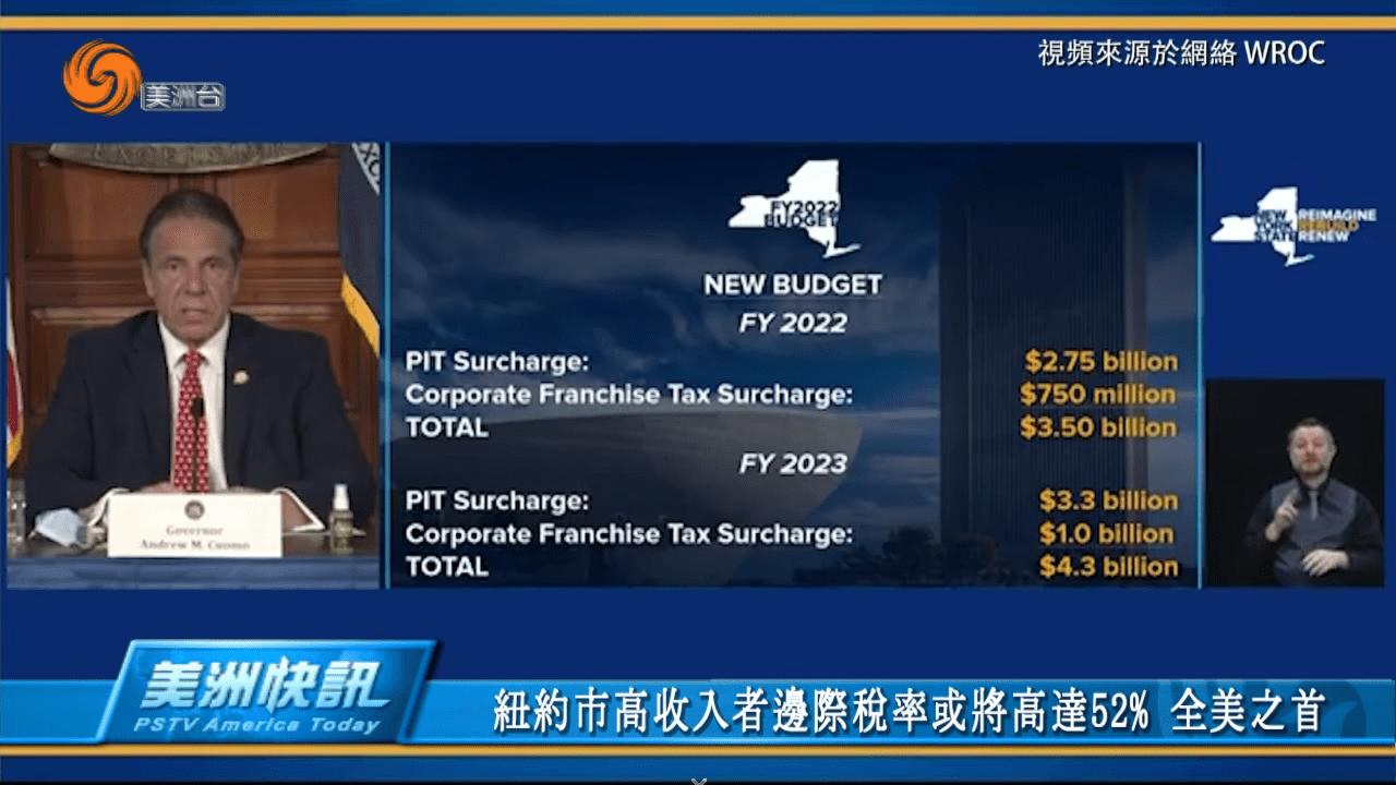 紐約市高收入者邊際稅率或將高達52% 全美之首