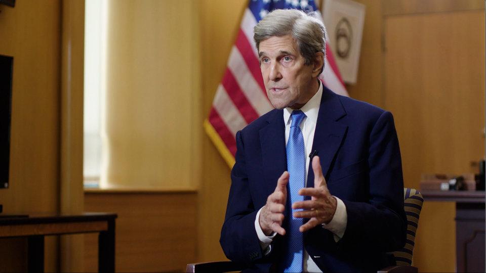 美国气候问题特使约翰·克里将于周三晚间抵达中国访问