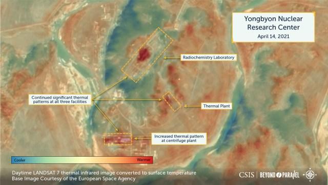 朝鲜边核子设施的暖气及设施支援系统在3、4月持续有运作迹象
