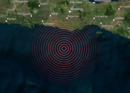 印尼西部海域发生6.0级地震