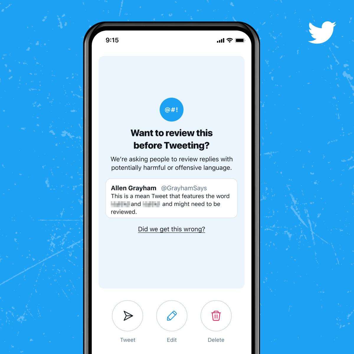 """推特推出新功能:""""发文思考""""!希望用户在发送令人反感的推文时三思而后行"""