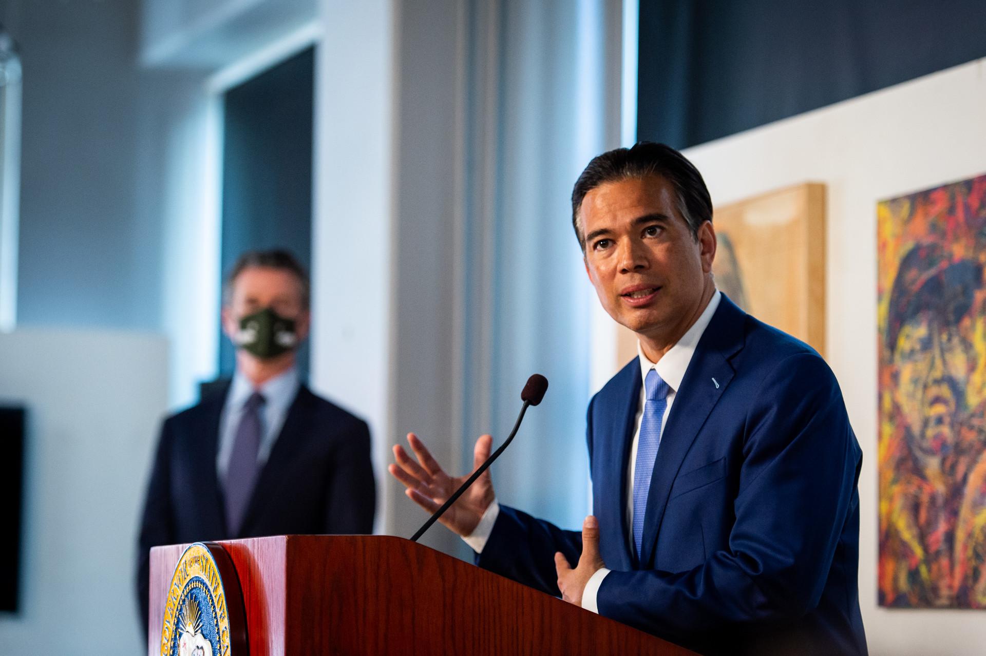 加州检察长邦塔发表首度公开演说,致力打击仇恨犯罪