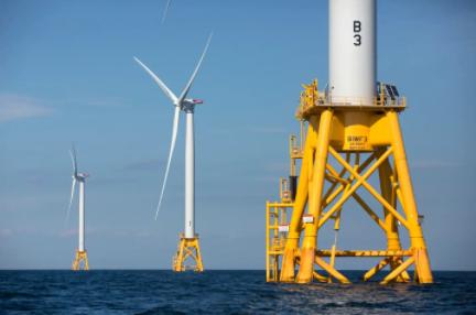 """联邦政府批准建设美国首个大型海上风力发电厂""""葡萄园风力项目"""""""