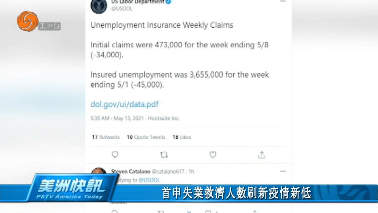 首申失業救濟人數刷新疫情新低