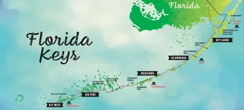 佛罗里达有一串绝美钥匙