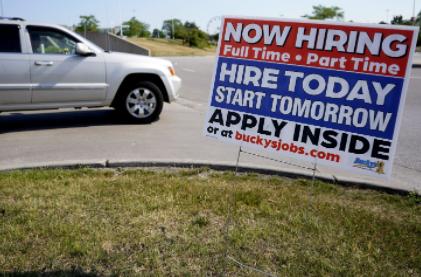 美国上周申领失业救济金人数达41.2万人,出现反弹现象