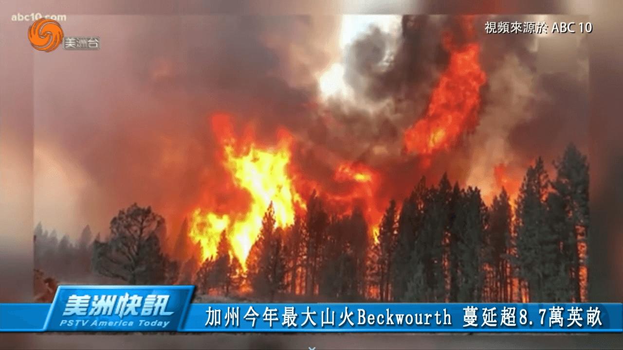 加州今年最大山火蔓延範圍超8.7萬英畝