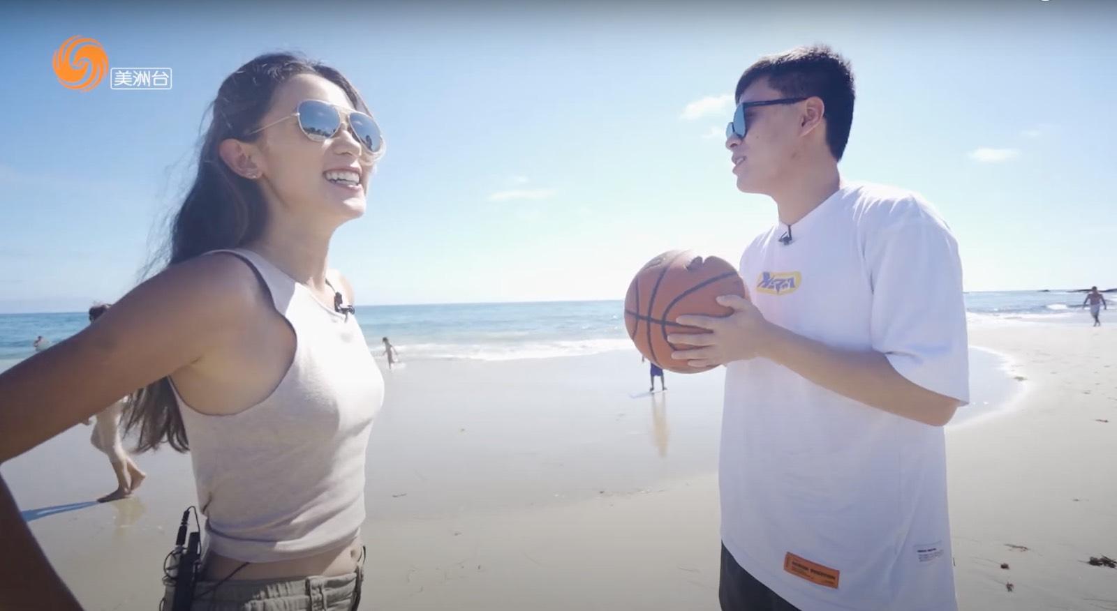 和北美篮球社创始人白晨阳在加州Laguna海滩公园聊创业