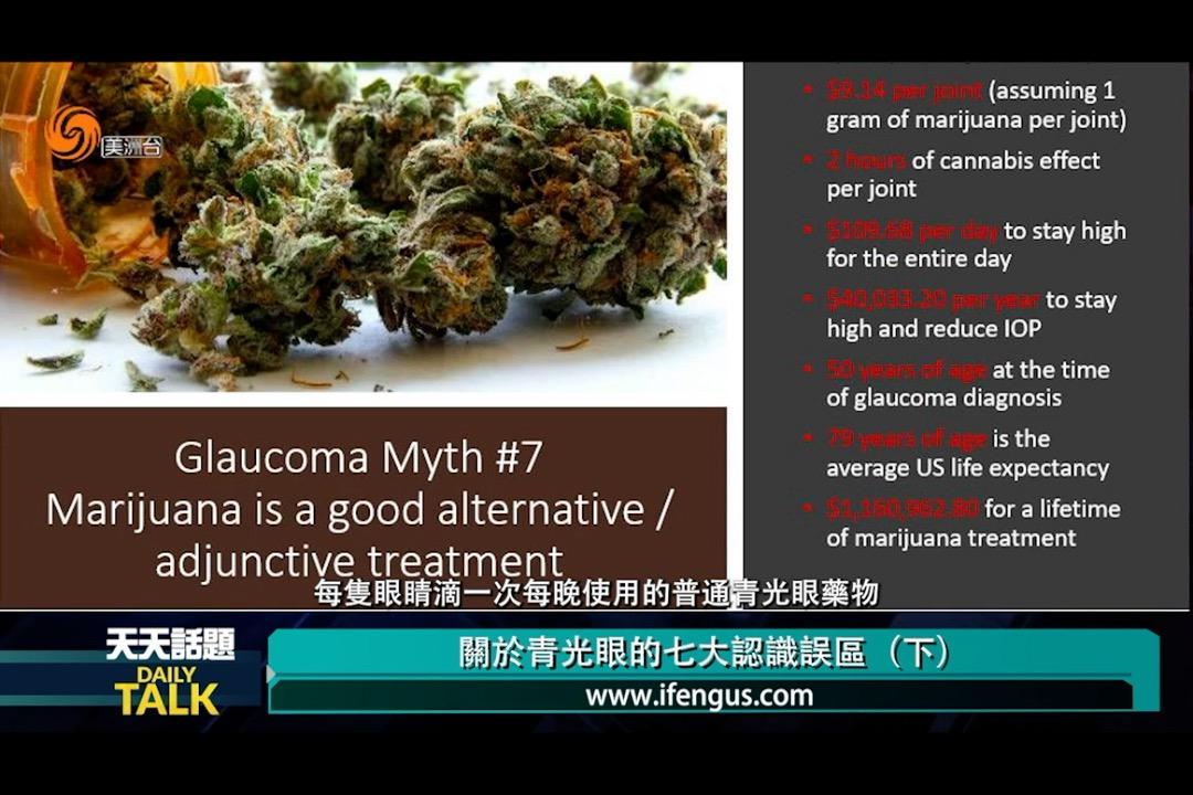 大麻对青光眼症状有帮助吗?