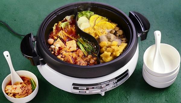 象印 Gourmet D'Expert® 多功能电锅 — 结合新的鸳鸯火锅和烧烤盘 — 两全其美的最佳选择