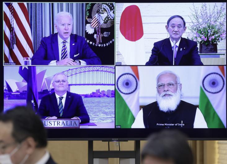 拜登下周将与澳洲、印度与日本进行四方安全对话