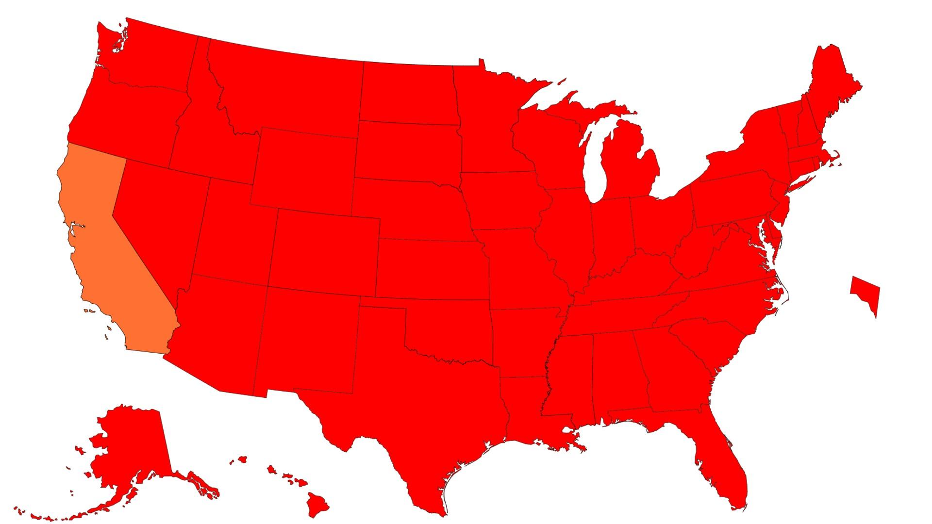 CDC最新数据显示加州感染率仍属全美最低