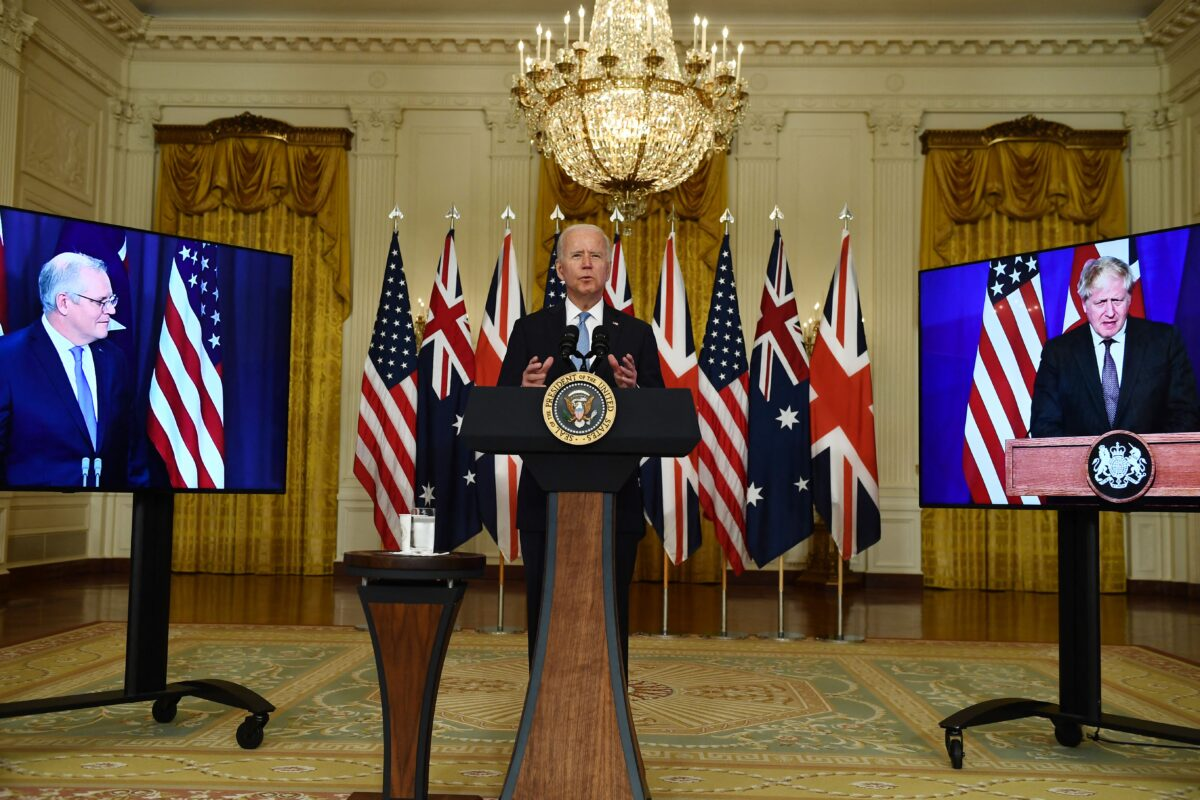 """英国、美国和澳洲宣布成立""""AUKUS""""三方安全联盟"""