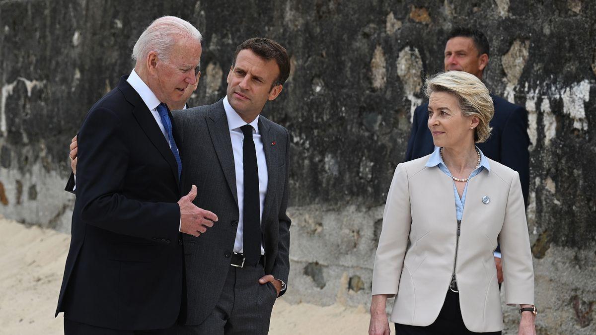 潜艇争端引外交危机后,拜登与法国总统马克龙首次通话
