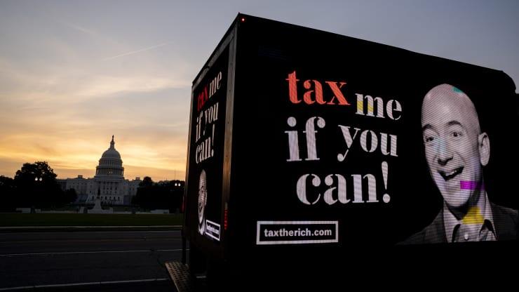 美国最富有的400个家庭缴纳的税率低于普通纳税人