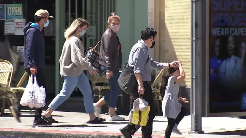 加州平均7天感染率两周内呈急剧下降